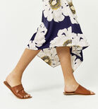 Warehouse, MELODY FLORAL SKIRT Blue Pattern 4