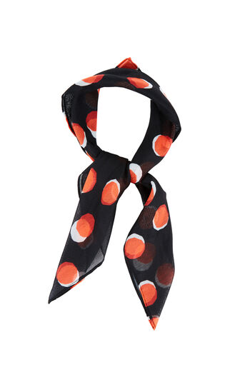 Warehouse, TOFFEE PENNY NECKERCHIEF Black Pattern 0