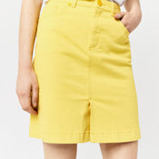 Warehouse, Split Front Denim Skirt Yellow 4