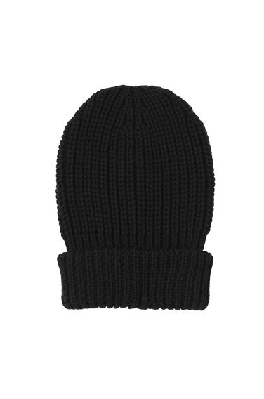 Warehouse, CHUNKY RIBBED HAT Black 0