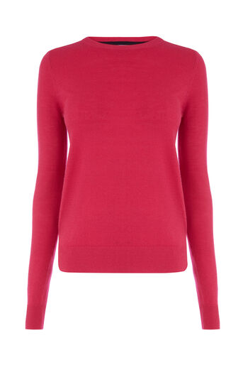 Warehouse, CREW JUMPER Bright Pink 0
