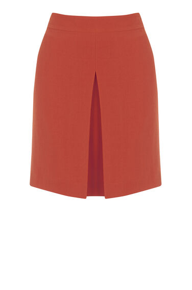 Warehouse, BOX PLEAT PELMET SKIRT Bright Red 0