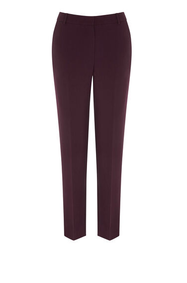 Warehouse, SLIM LEG TROUSERS Dark Red 0