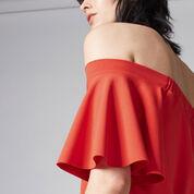 Warehouse, OFF SHOULDER DRESS Bright Red 4