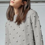 Warehouse, POM POM JUMPER Light Grey 4