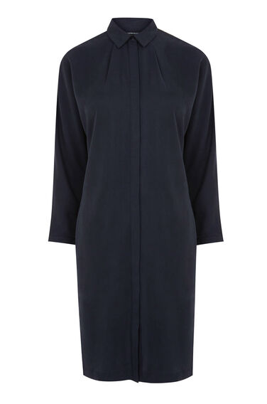 Warehouse, BATWING SHIRT DRESS Navy 0
