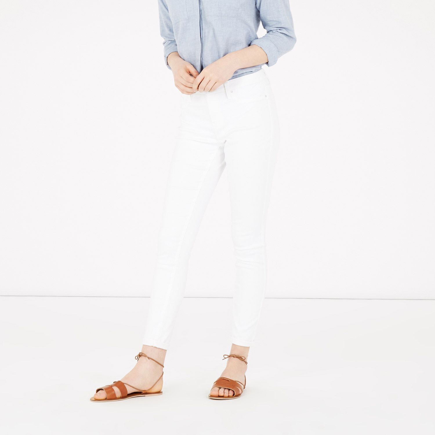 Warehouse, Second Skin jeans White 1