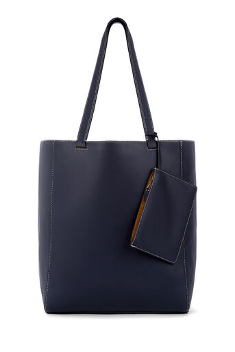 Warehouse, FOLDED STITCH SHOPPER Navy 0