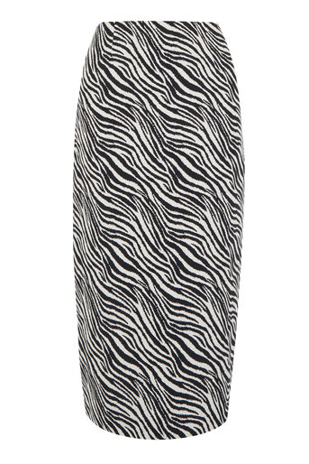 Warehouse, ZEBRA PENCIL SKIRT Black Pattern 0