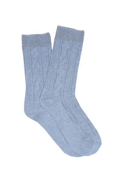 Warehouse, CABLE KNIT SOCKS Light Blue 0