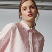 Warehouse, CANDY STRIPE BOXY SHIRT Light Pink 4