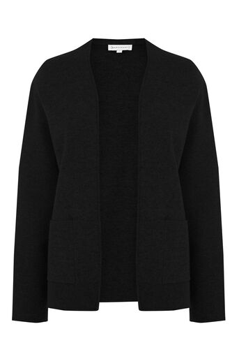 Warehouse, BOXY POCKET CARDI Black 0