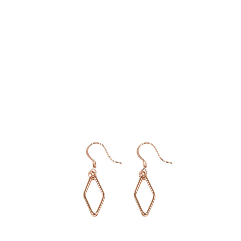 Warehouse, GEO DIAMOND EARRINGS Copper Colour 1