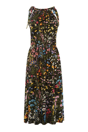 Warehouse, WILD GARDEN PRINT MIDI DRESS Multi 0