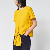 Warehouse, TIE FRONT COTTON TOP Yellow 4