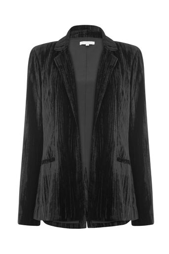 Warehouse, CRUSHED VELVET JACKET Black 0