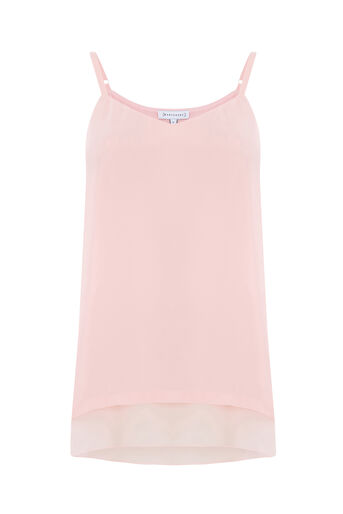 Warehouse, DOUBLE LAYER CAMI Light Pink 0