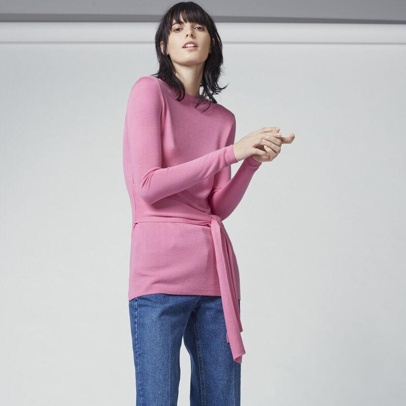 Warehouse, TIE WAIST JUMPER Bright Pink 1