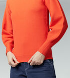 Warehouse, MILANO BLOUSON SLEEVE JUMPER Bright Red 4