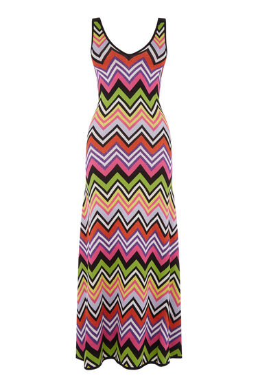 Warehouse, SPARKLE CHEVRON MAXI DRESS Multi 0