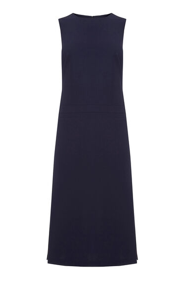 Warehouse, SLEEVELESS MIDI DRESS Navy 0