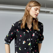 Warehouse, WOODSTOCK FLORAL SHIRT Black Pattern 4