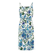 Warehouse, Botanical Drawn Floral Dress Neutral  Print 0