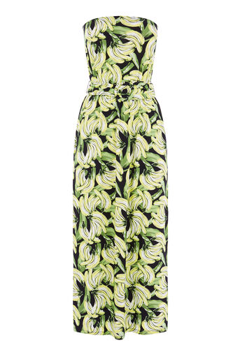 Warehouse, BANANA PRINT BANDEAU DRESS Multi 0