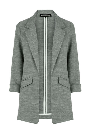 Warehouse, TEXTURED BLAZER Light Grey 0