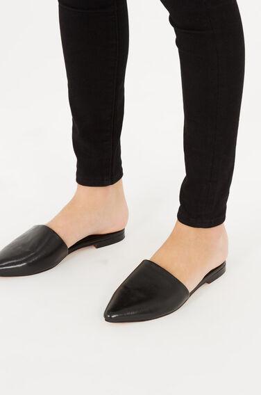 Warehouse, Backless Slip On Shoe Black 0