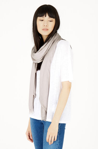 Warehouse, SATEEN WEAVE SCARF Light Grey 1