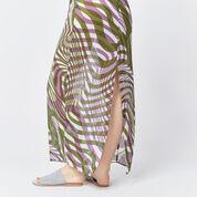 Warehouse, WARP PRINT MAXI DRESS Purple Pattern 4