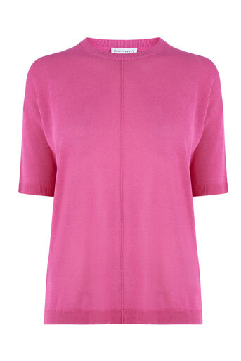 Warehouse, BOXY KNITTED TOP Bright Pink 0