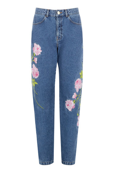 Warehouse, Embroidered Jeans Mid Wash Denim 0