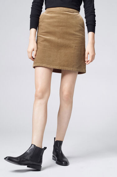 Warehouse, Cord Pelmet Skirt Brown 0