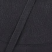 Warehouse, Leather Mini Saddle Bag Black 3