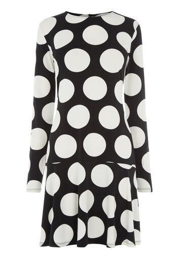 Warehouse, OVERSIZED DOT DRESS Black Pattern 0