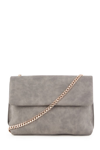 Warehouse, CHAIN STRAP BUFF CROSSBODY BAG Dark Grey 0