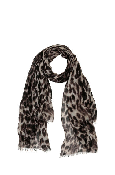 Warehouse, Leopard Print Scarf Brown 0