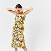 Warehouse, AMAZON PRINT DRESS Yellow 1