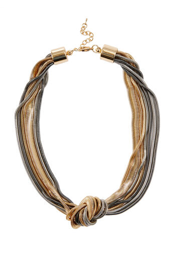 Warehouse, Knotted Snake Chain Necklace Multi 0