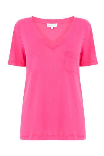 Warehouse, V NECK TEE Light Pink 0