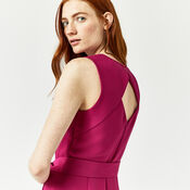 Warehouse, OPEN BACK CULOTTE JUMPSUIT Bright Pink 4