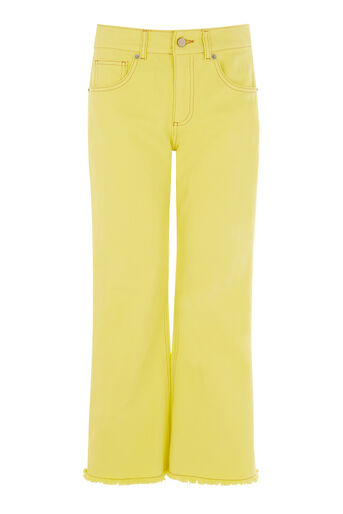 Warehouse, Cropped Flare Jeans Yellow 0