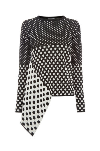 Warehouse, POLKA DOT JUMPER Black Pattern 0