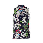 Warehouse, HIGH NECK FLORAL TOP Multi 0