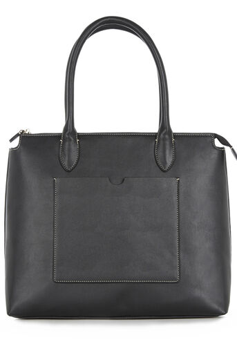 Warehouse, STITCH DETAIL TOTE BAG Black 0