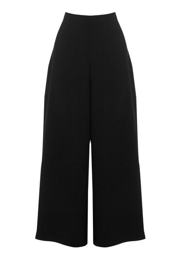 Warehouse, SIDE SPLIT CULOTTES Black 0