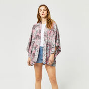 Warehouse, TIGER PRINTED KIMONO Light Pink 2
