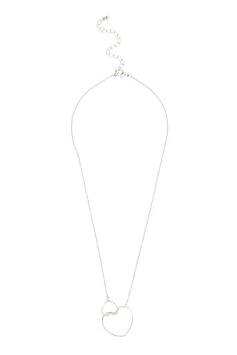 Warehouse, INTERLOCK HEART NECKLACE Silver Colour 0